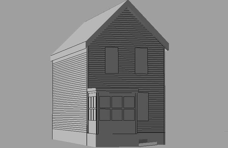 Exterior vestibule flat roof cad