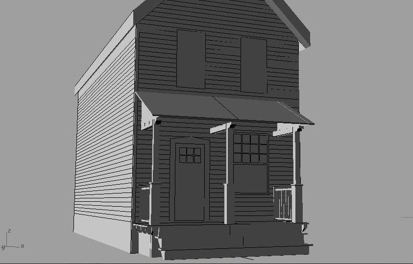 Craftsman style portico cad